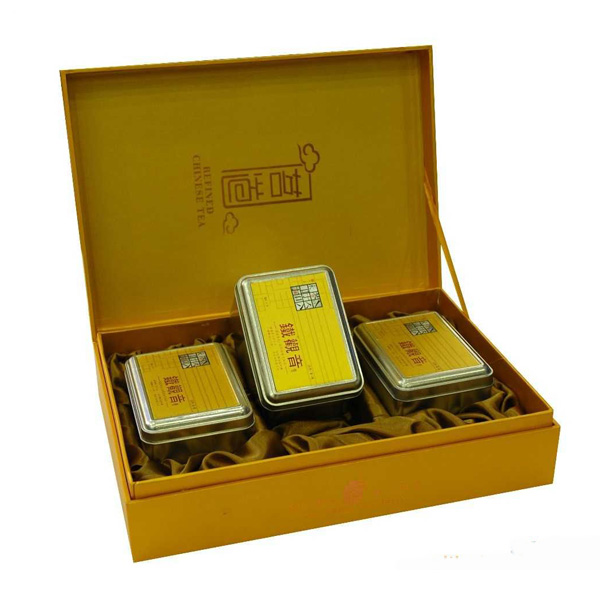 China manufacture customize Gold quality handmade tea box