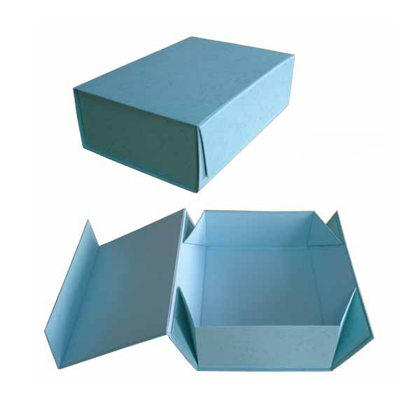 cardboard solid color gift box with magnet closure and flat folding