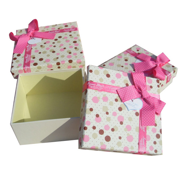 elegant square shape gift box with separated bottom&lid