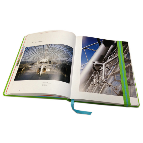 Full Color Printing Hardcover Architectural Design Book With Elastic Band And Ribbon