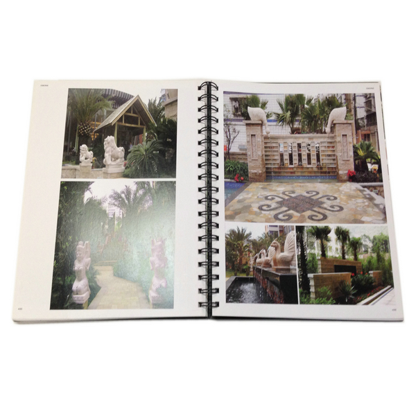 High Quality Spiral Bound Sculpture Book Printing With Full Color