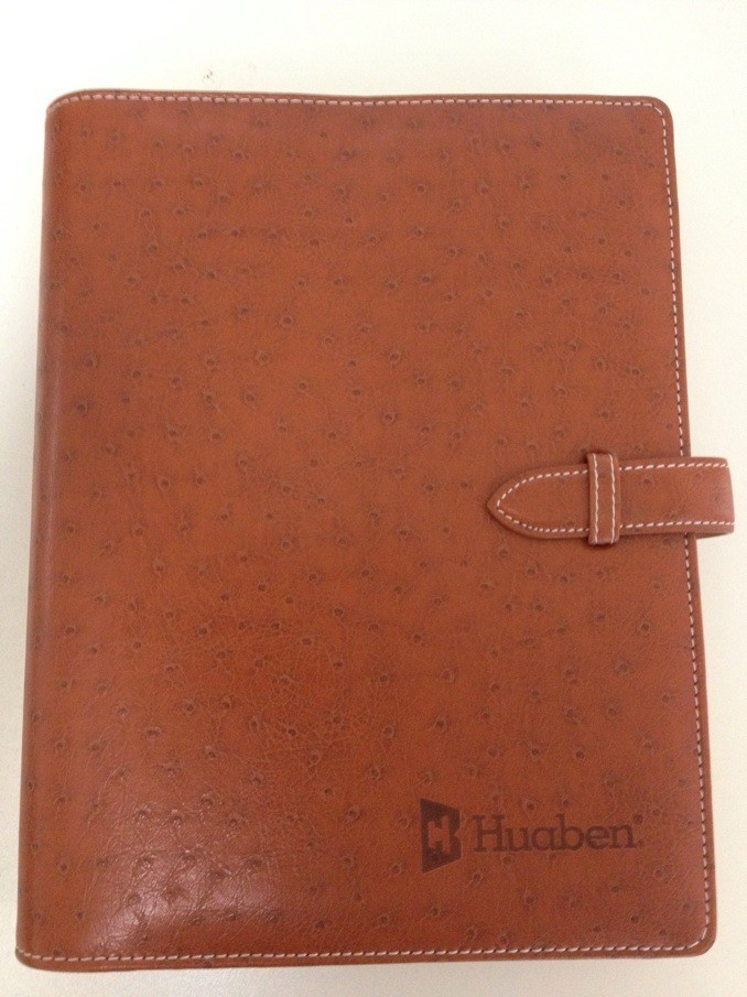 High Quality Custom PU Leather Notebook Printing Company PU Leather Dairy Agenda Printing In China
