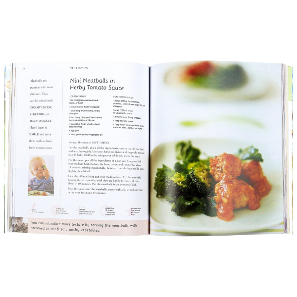 Hardcover fullcolor baby cookbook