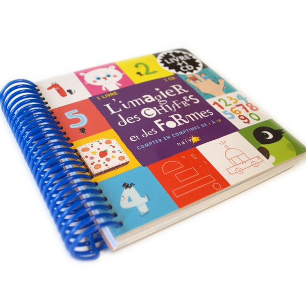 Full Color High Quality Spiral Bound Board Book Printing