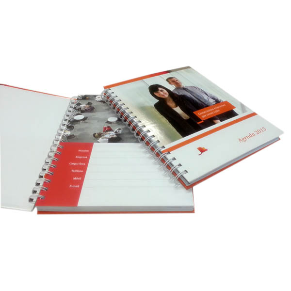 Custom produced good quality Wire-O bound agenda for daily use