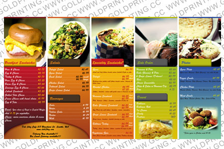 Food Menu Printing Cheap Menus Printing Book Printing In China